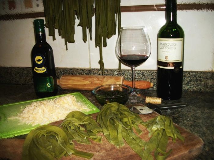 PietroDuarte.Blog.Pasta caseira de espinafre ao molho pesto