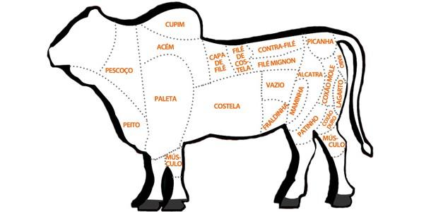 Escolha o corte de carne bovino –